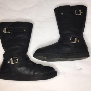 UGG Australia women's Sutter Leather buckle boots